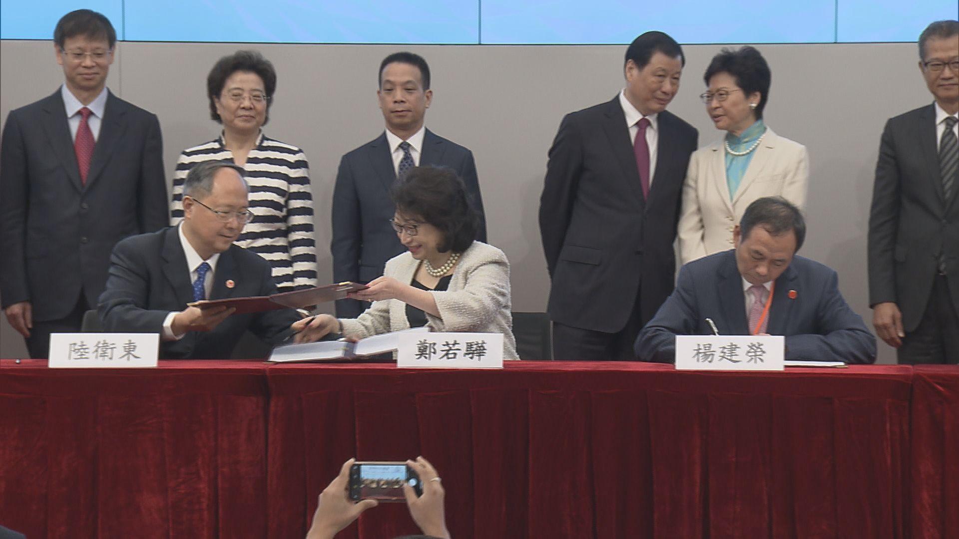 滬港合作會議簽署15份合作協議