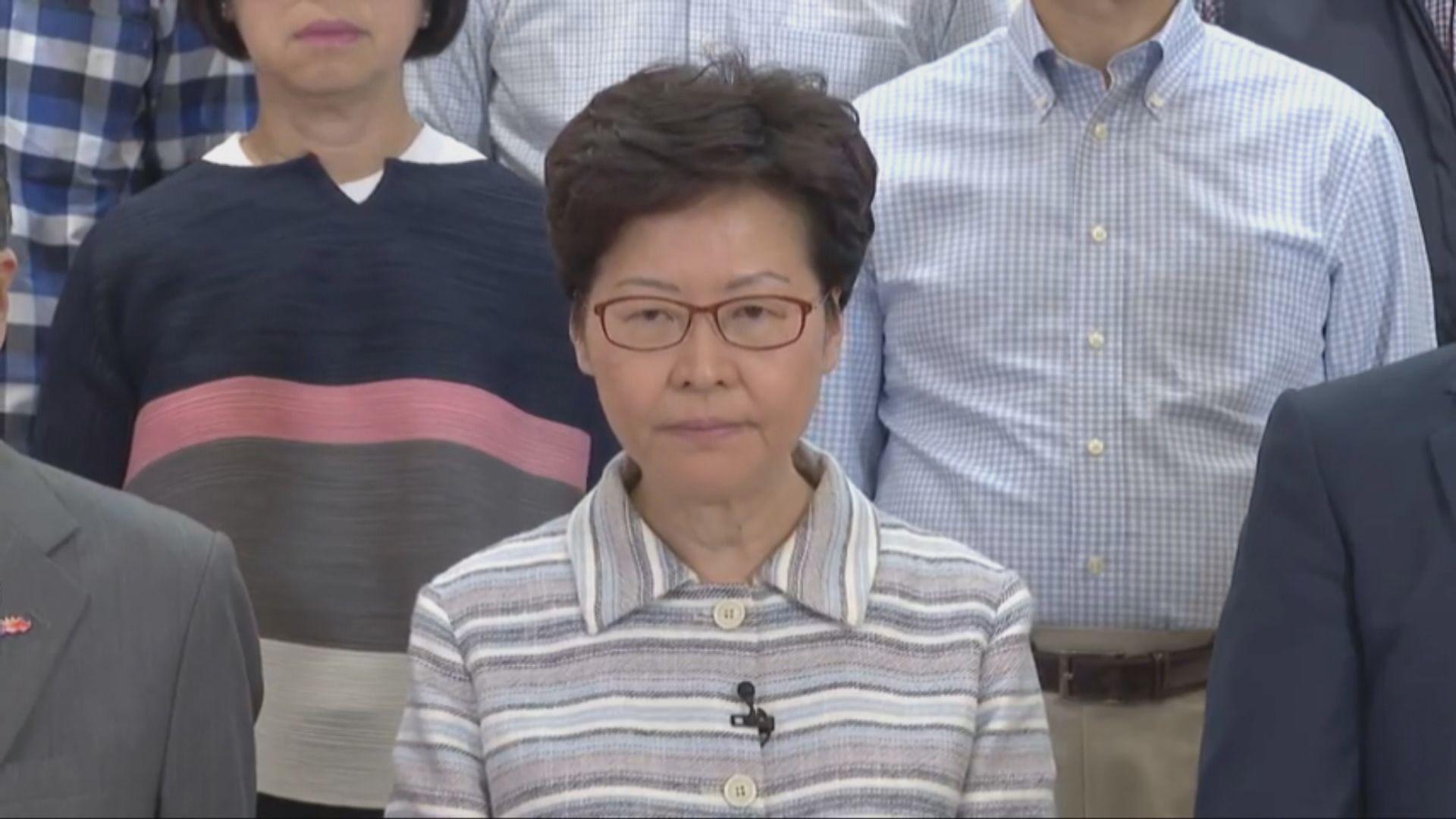 林鄭:香港渡過黑暗一夜 市民應與暴徒割席