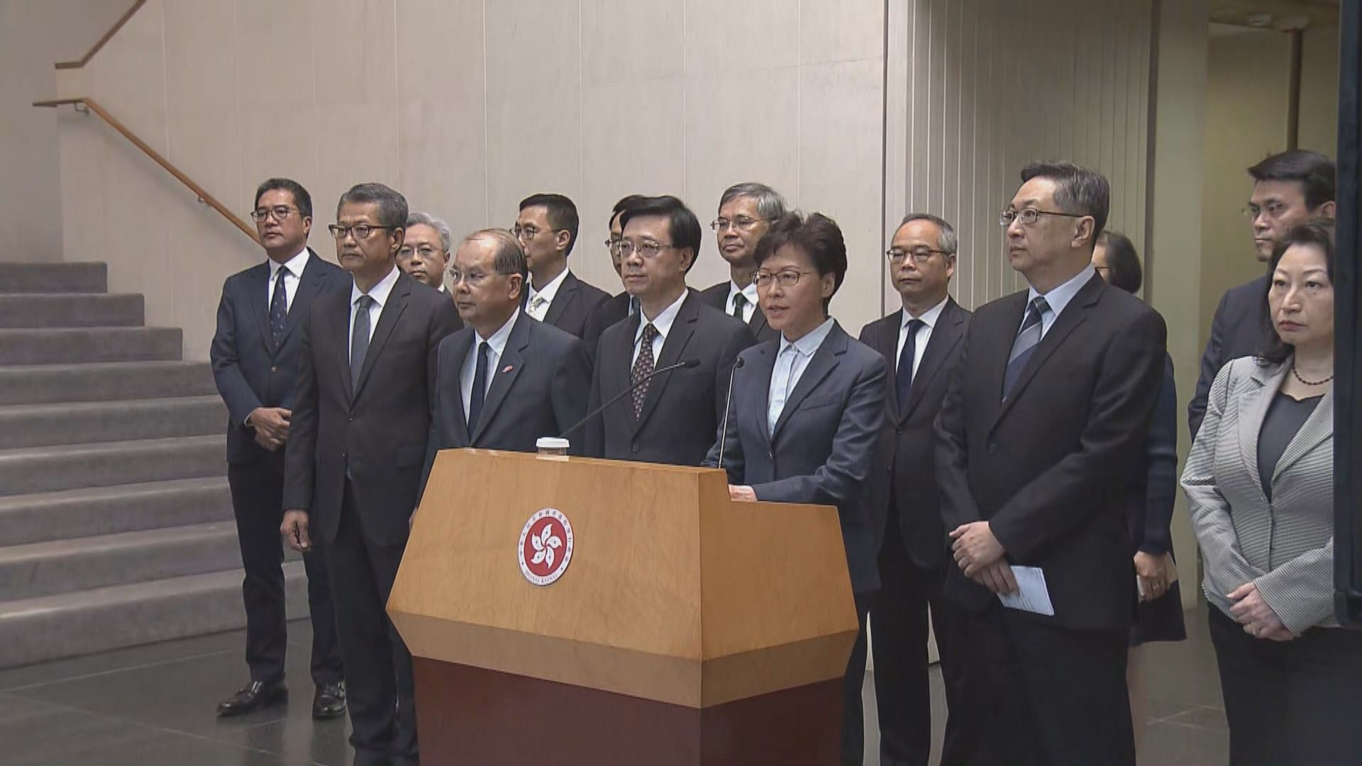 林鄭:元朗暴力襲擊施襲者目無法紀