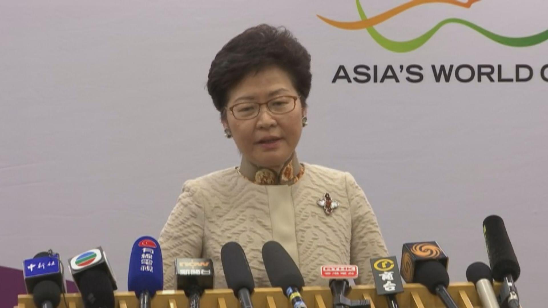 林鄭拒絕評論過往政府就鄧龍威一案的做法
