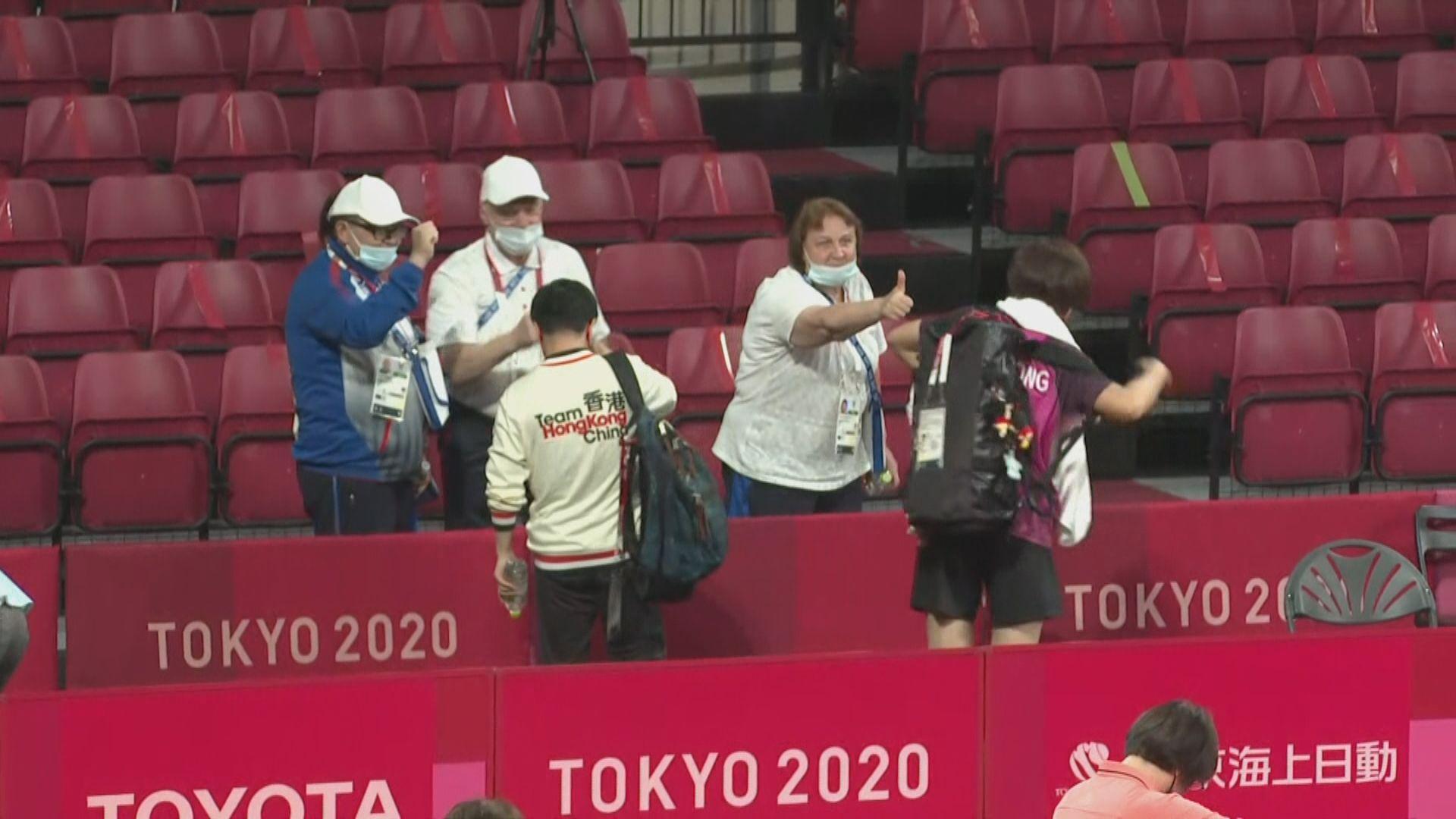 林鄭月娥祝賀王婷莛在殘奧女子乒乓球贏得銅牌