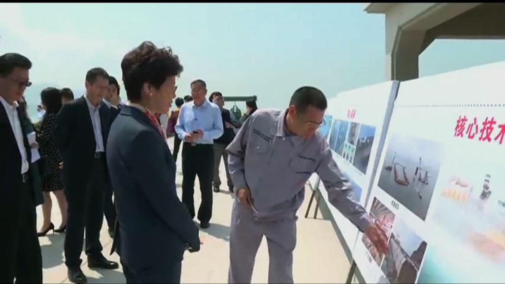 林鄭:不應因相片質疑港珠澳大橋設計