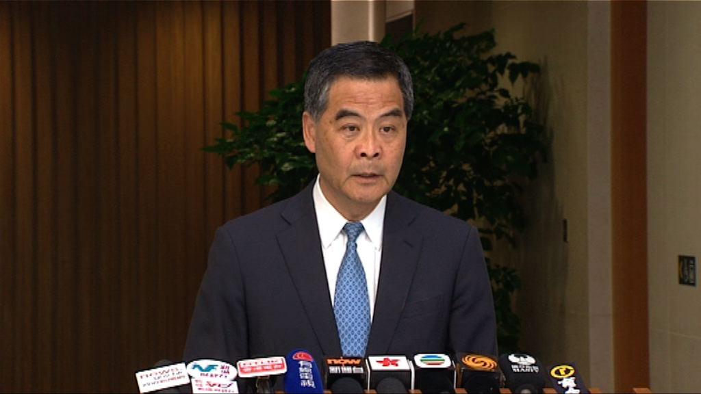 梁振英:已召開跨部門會議檢視樓宇政策