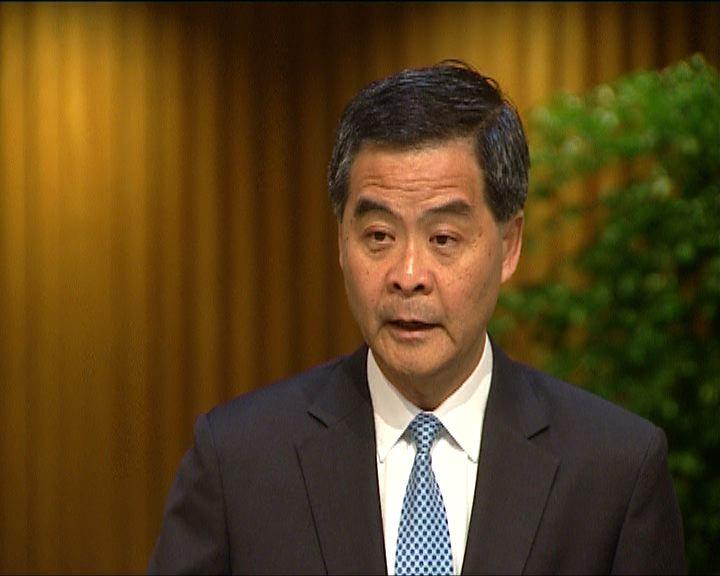 梁振英:發展東北解決房屋問題