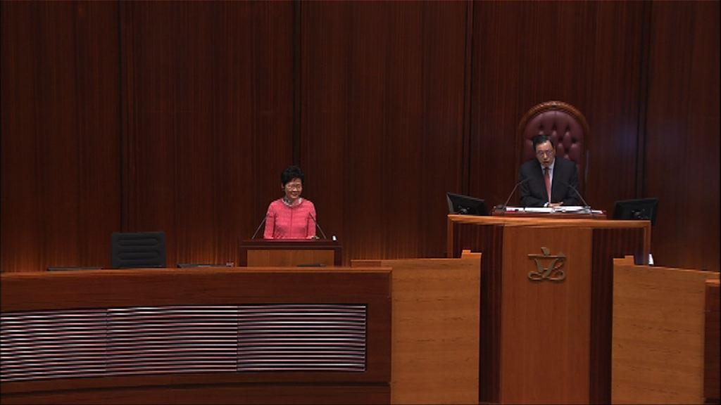 林鄭:政府推支援應付中美貿易戰