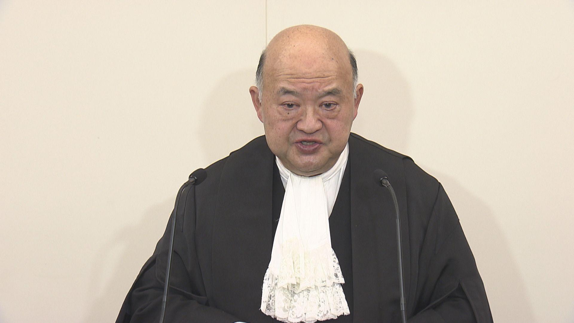 馬道立:指定法官不應考慮政治因素