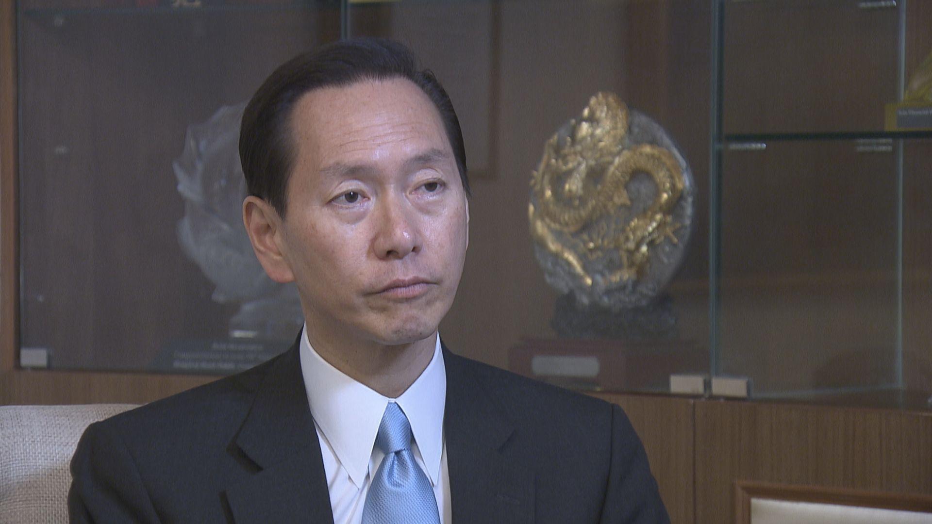 陳智思:年初被美資銀行關閉帳戶 與近期政治事件無關
