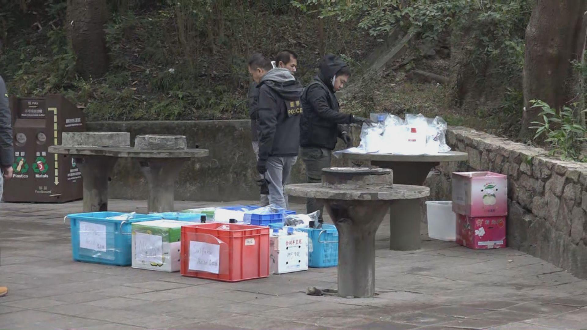 荃灣城門郊野公園發現大量懷疑化學品