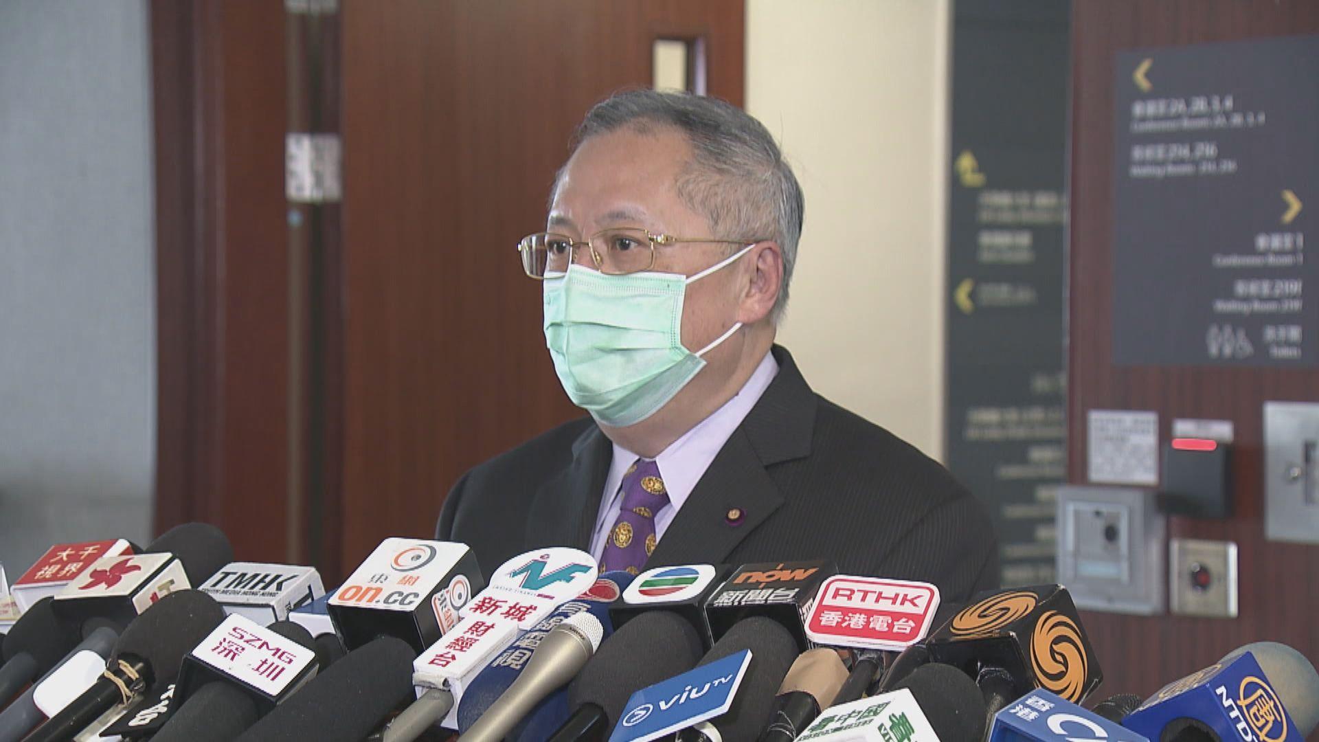 張宇人︰對政府延長規管食肆的防疫措施感失望