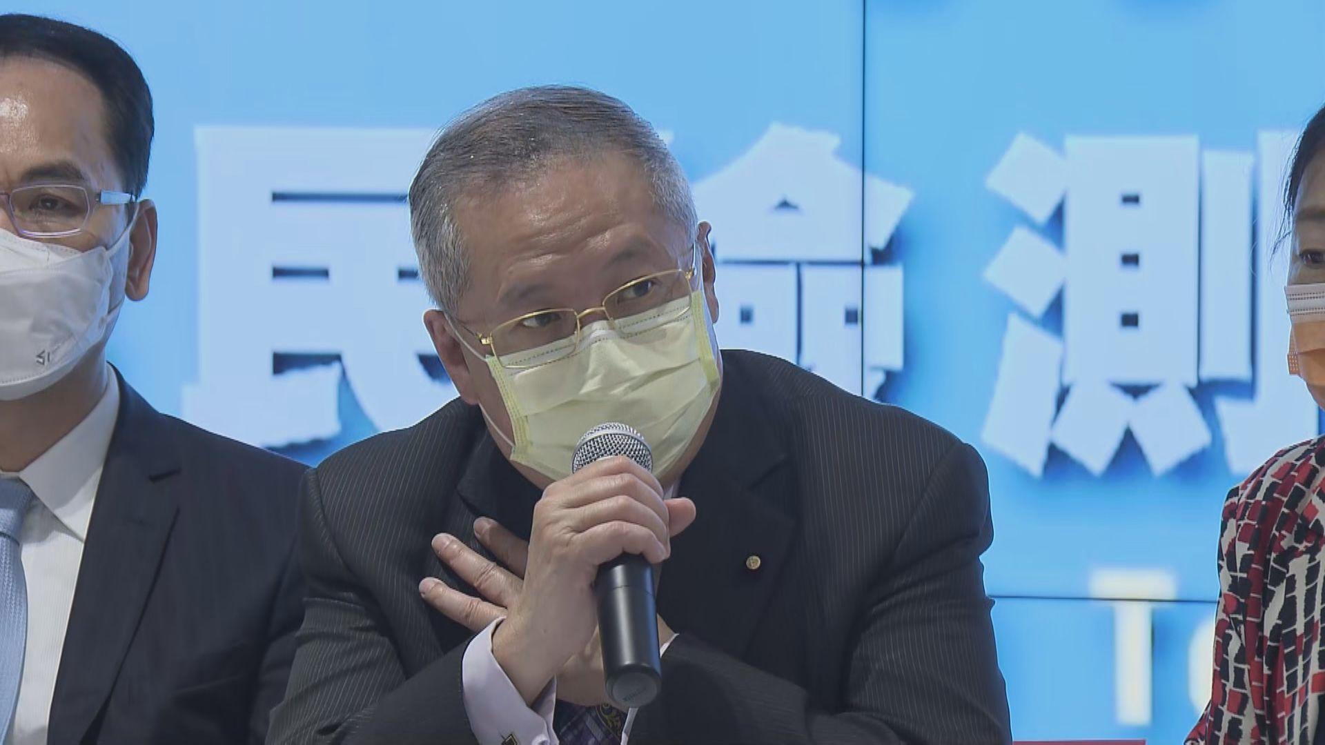 張宇人:政府應更早放寬食肆限制