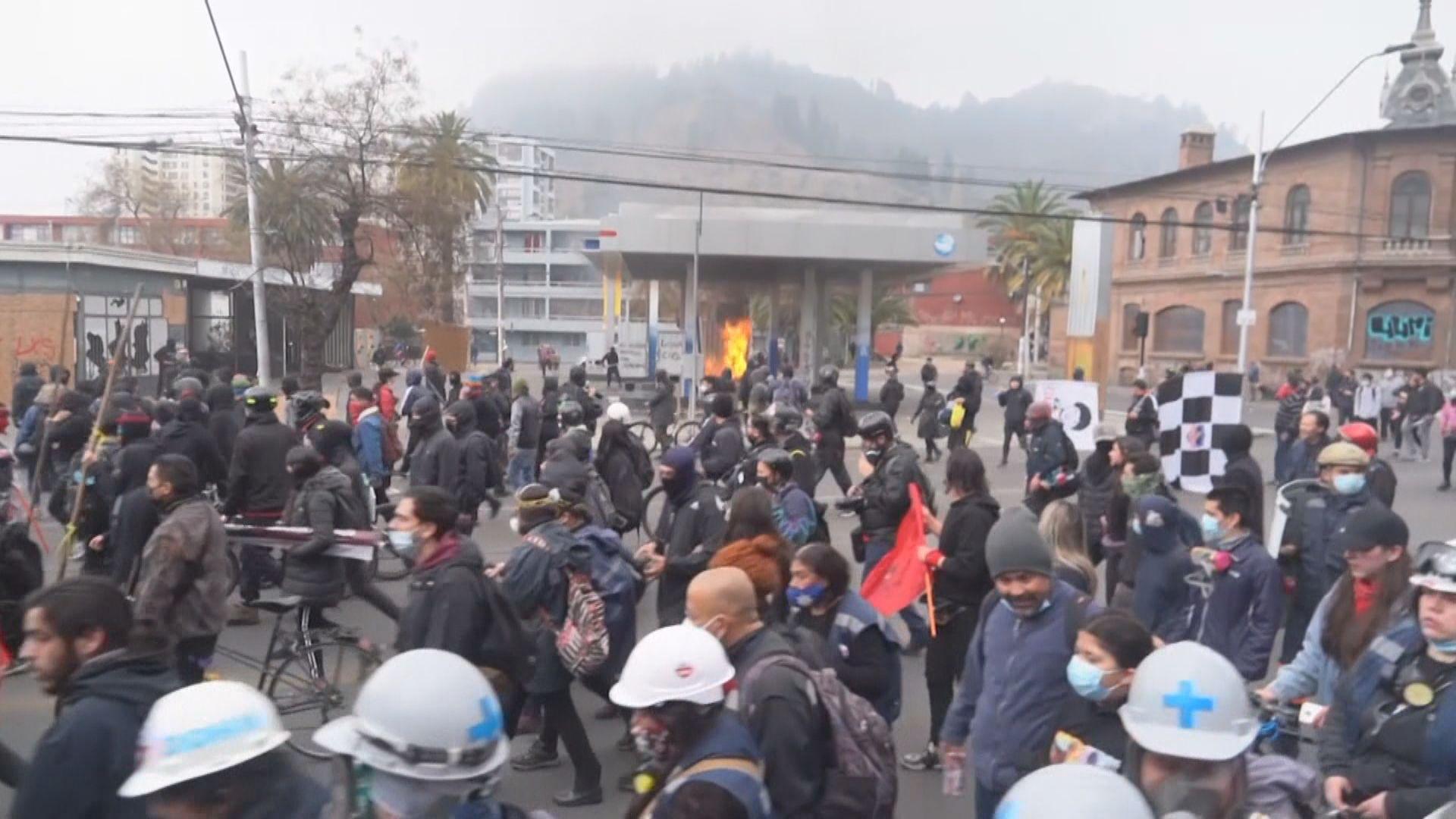 智利軍事政變48周年 民眾上街示威與警方爆發衝突