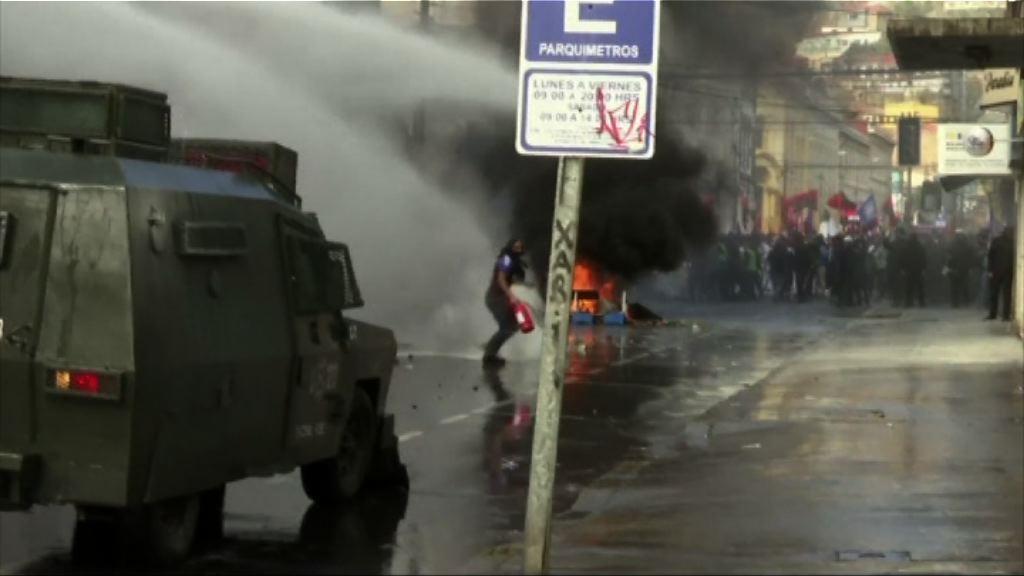 智利民眾不滿施政示威演變成衝突