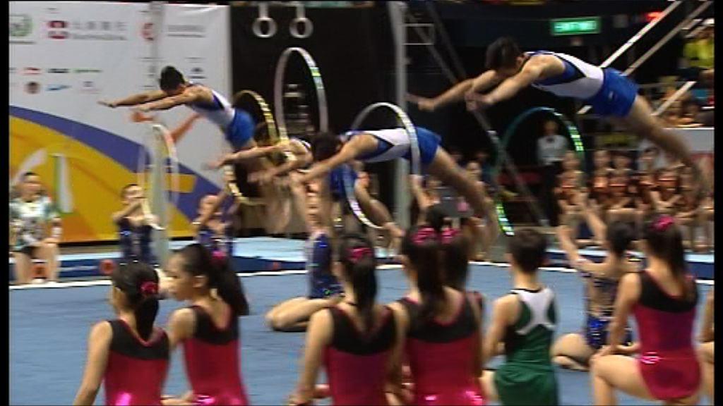 國家體操隊在伊館獻技
