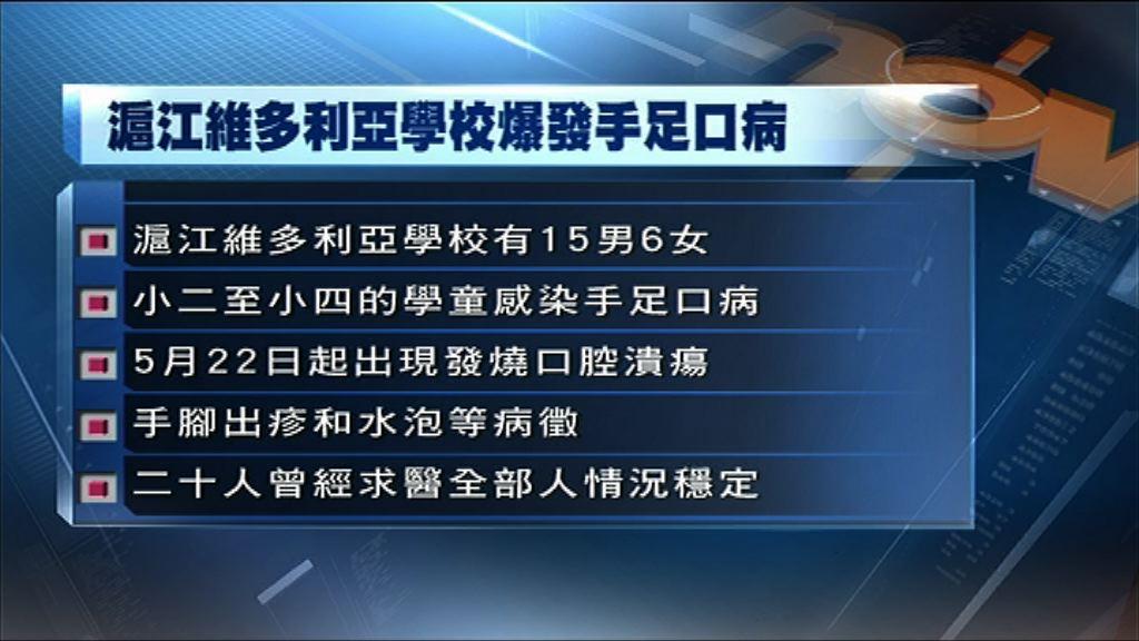 香港仔一小學爆手足口21人染病