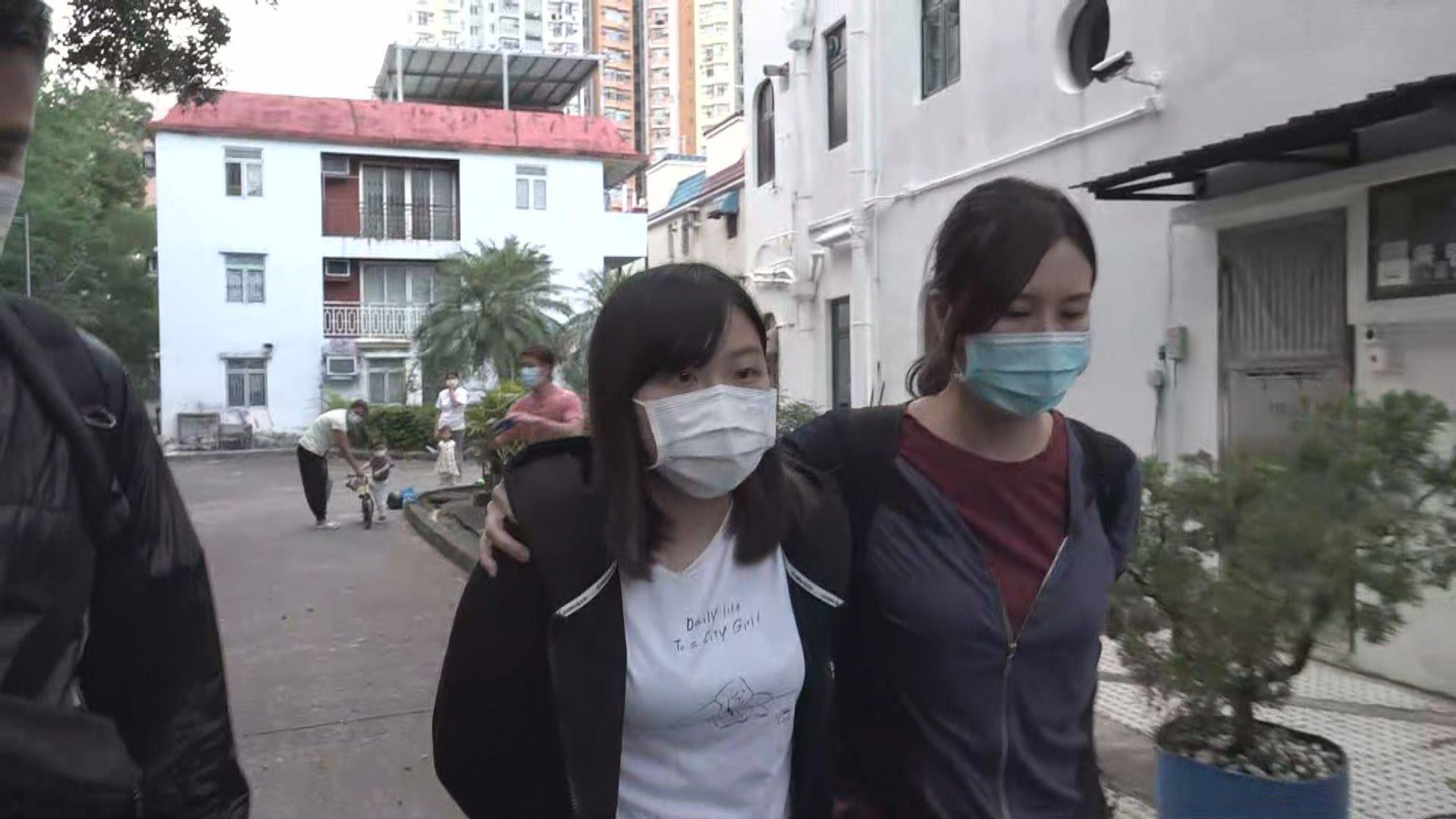 學生動源三人涉煽動分裂國家 被警方國安處人員拘捕