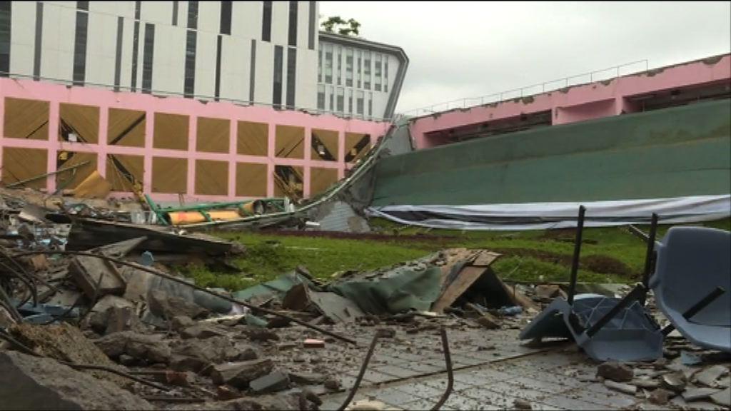 城大屋頂倒塌 律政司經研究後決定不提檢控