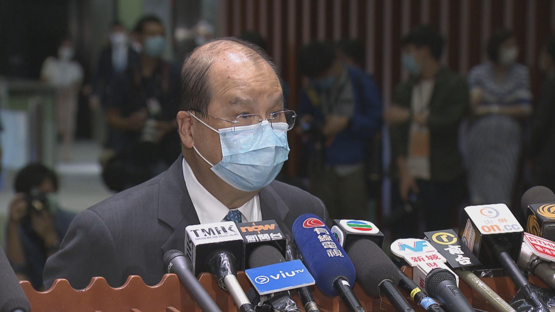 張建宗:現時有條件繼續維持公共服務
