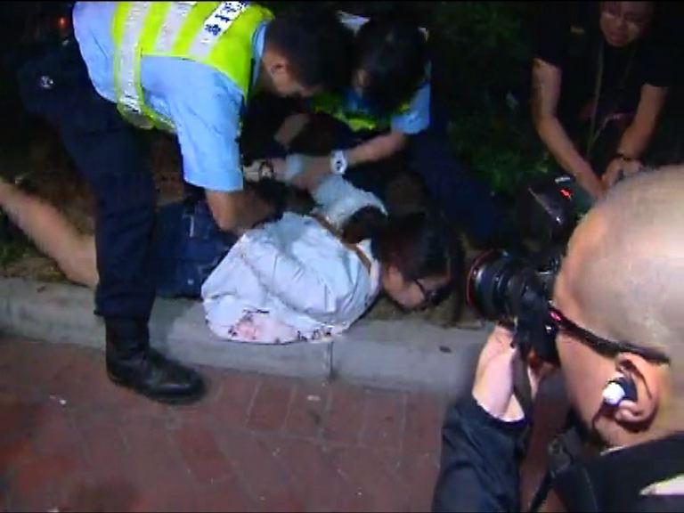 屯門反水貨客示威警方拘捕多人