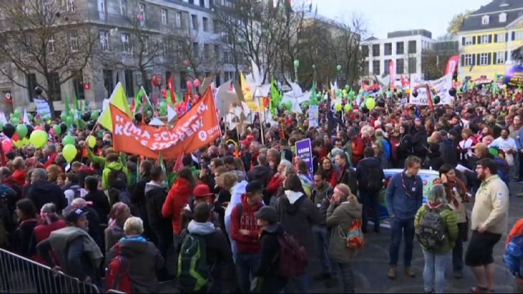 德國波恩民眾示威要求正視氣候問題