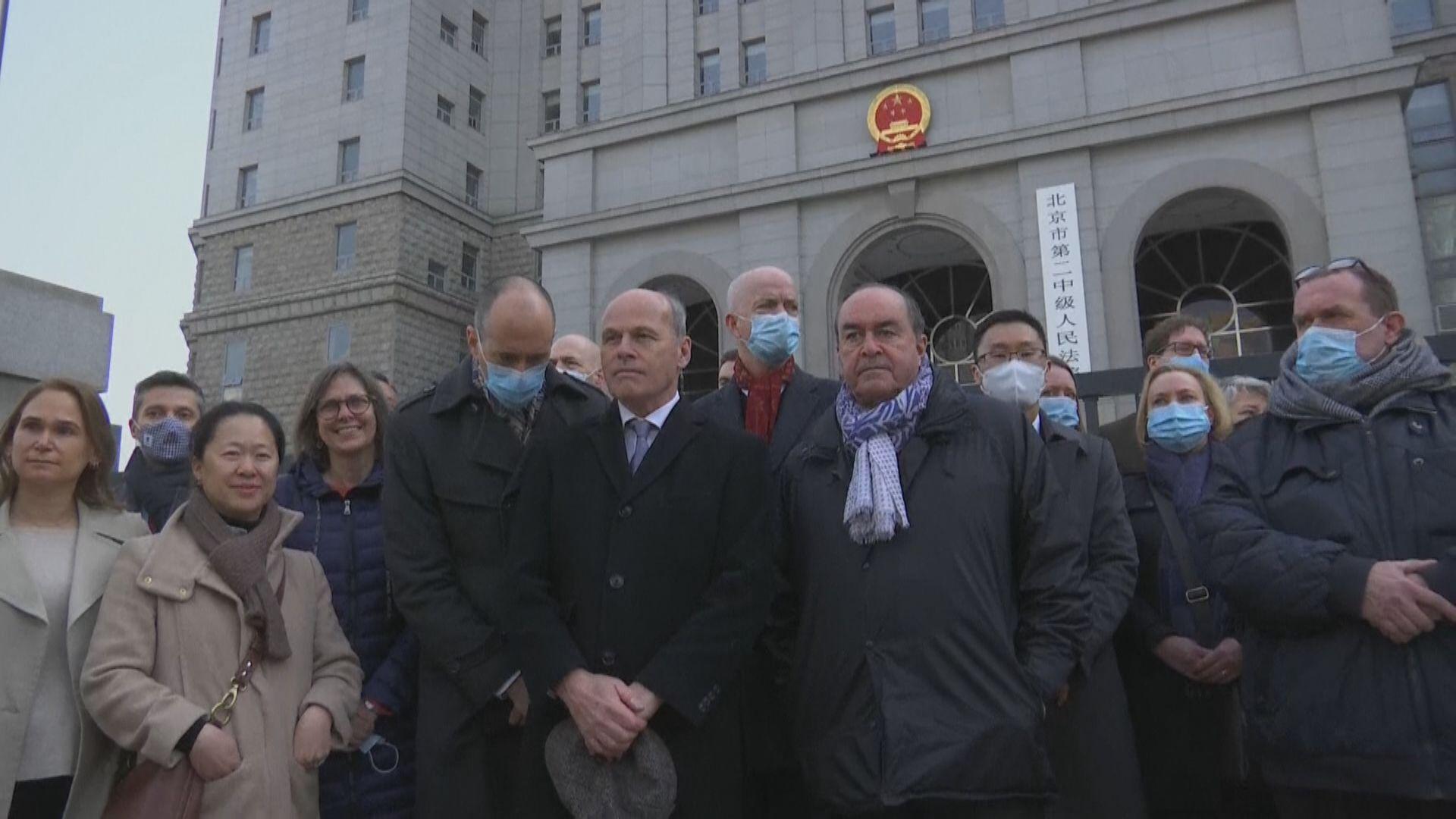 康明凱北京出庭受審 美加等28駐華使館代表被拒入庭旁聽