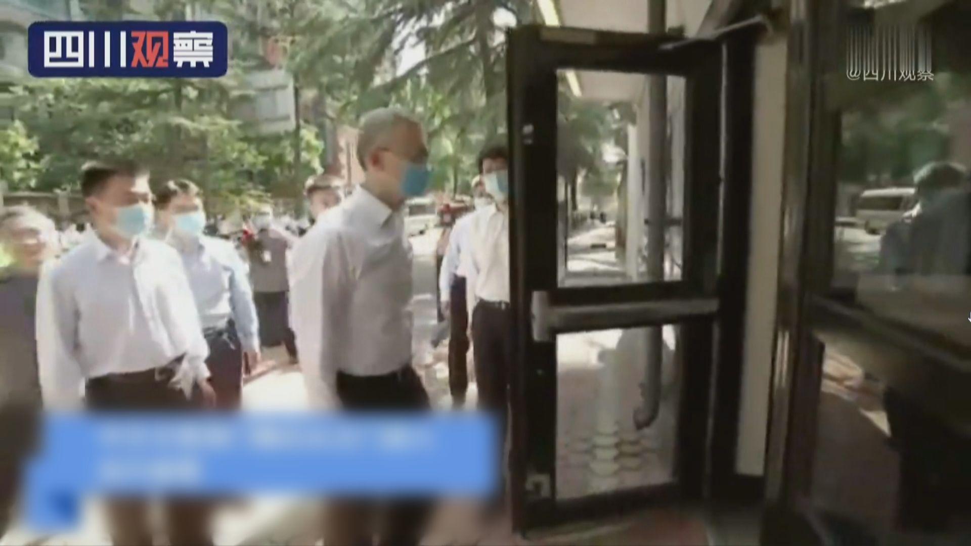 中方正門進入接管美國駐成都總領事館