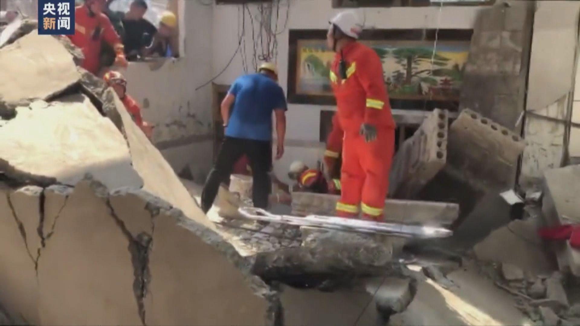 山西臨汾一間飯店倒塌 造成最少17人死亡