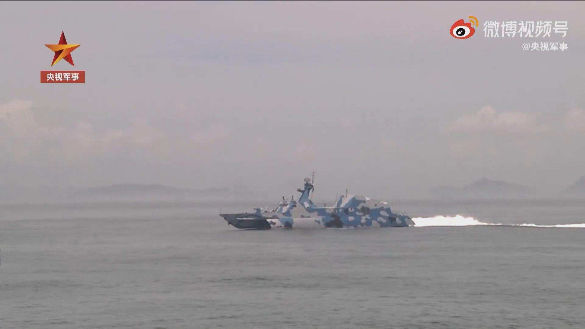 解放軍在台灣周邊海空域演習 台灣當局稱做好因應的準備