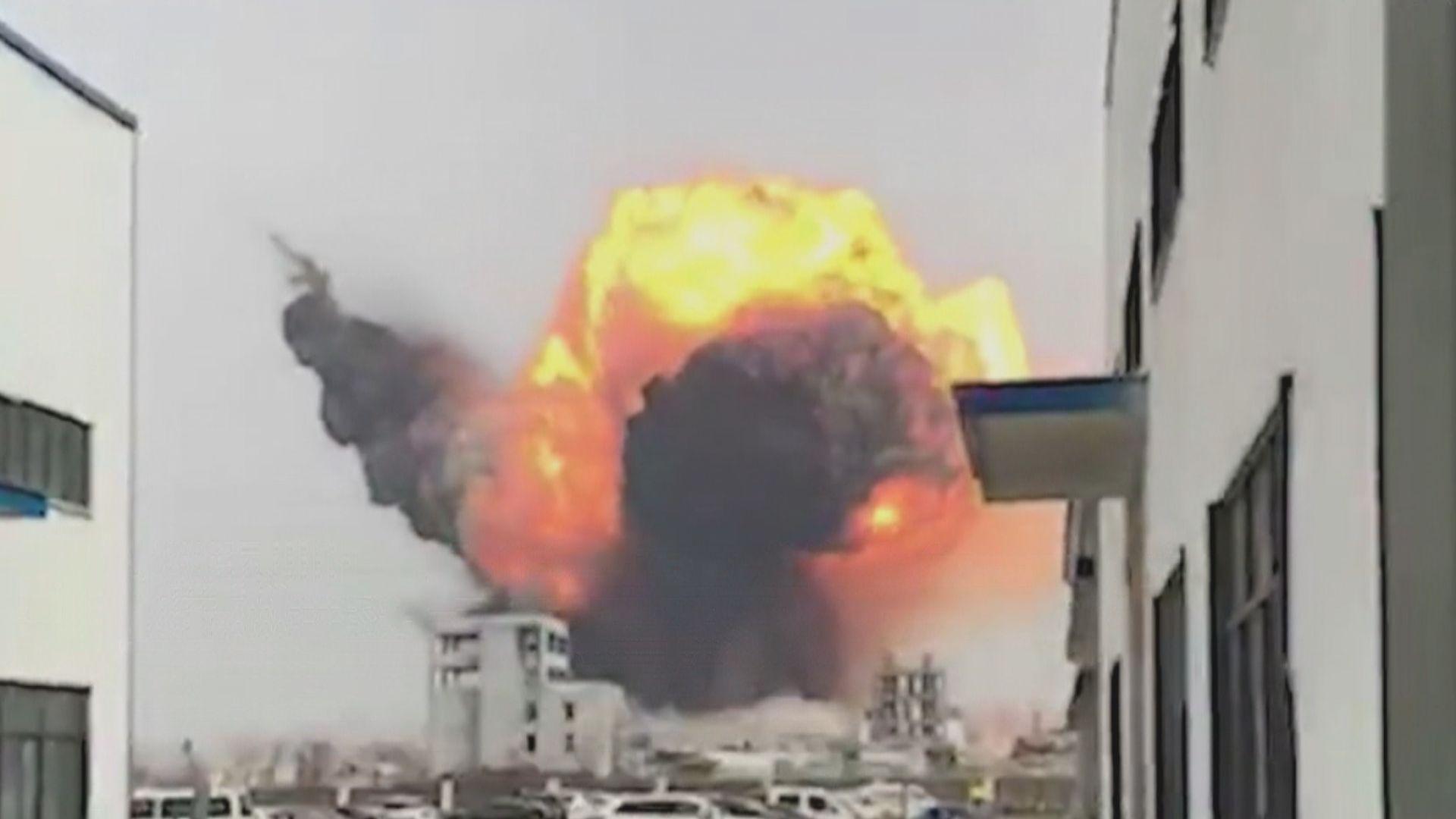 江蘇鹽城化工廠爆炸 至少12人受傷