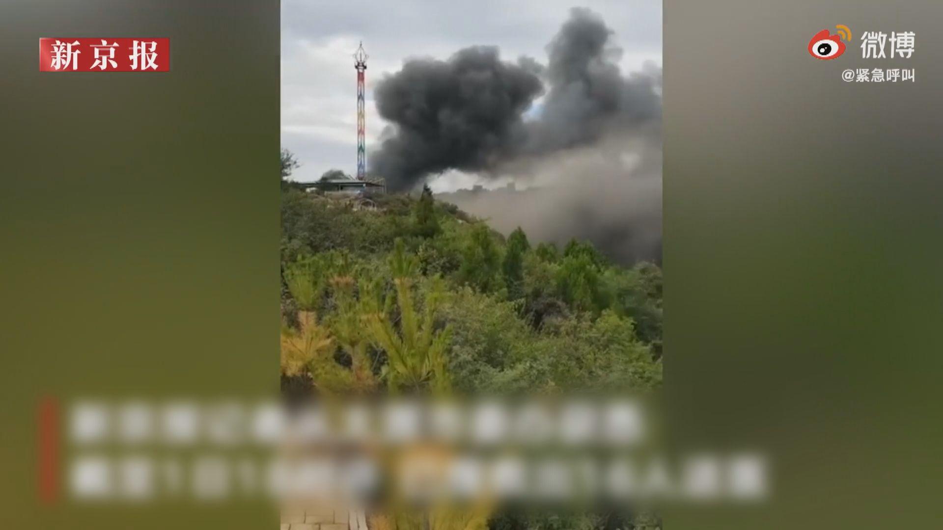 太原台駘山景區火災後被勒令關閉