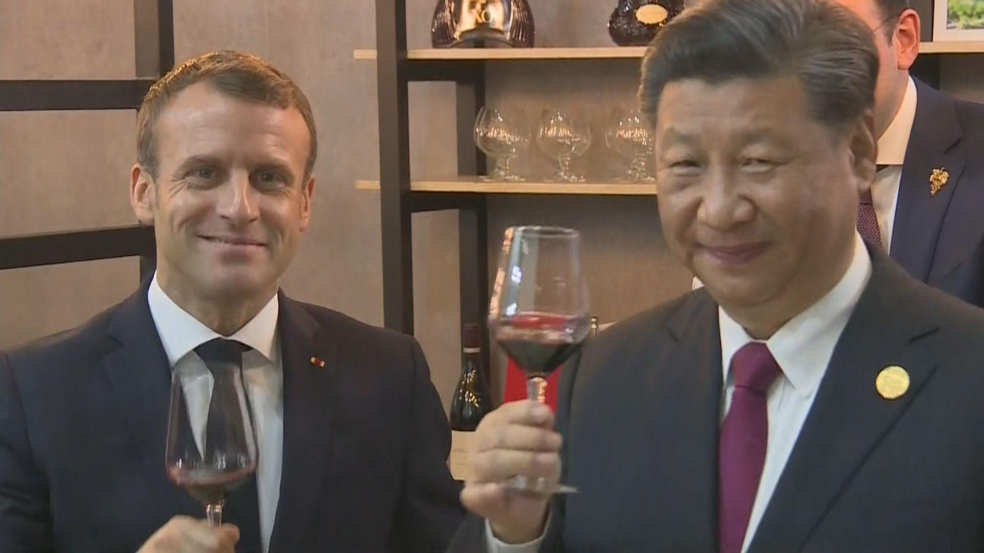 馬克龍敦促中國加快開放市場