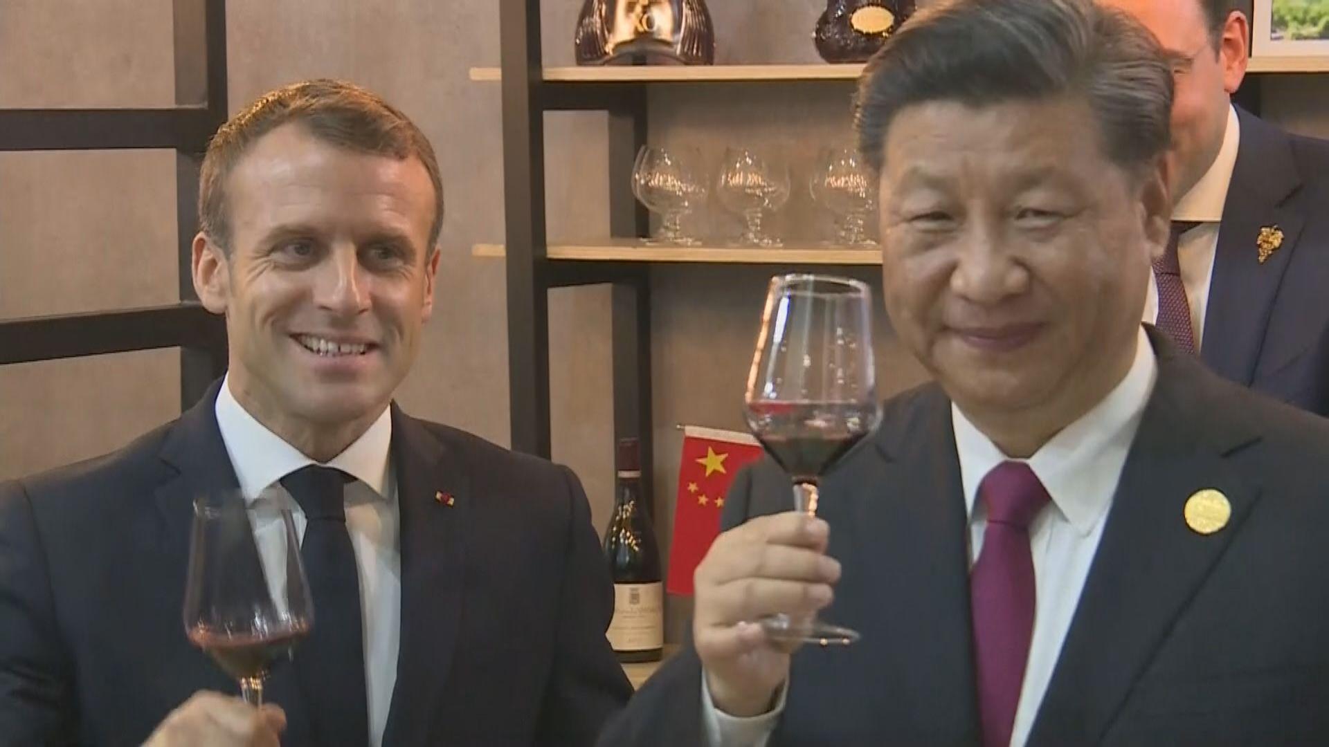 馬克龍訪華促中國加快開放市場