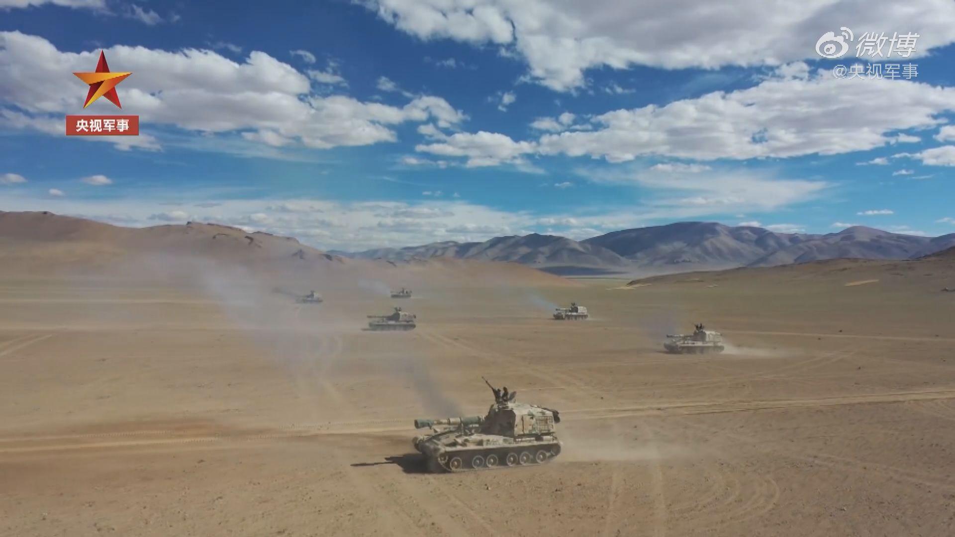 解放軍高原作實彈演習 或為中印衝突做準備