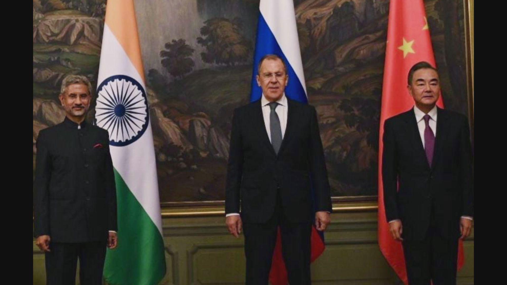 中印外長會面 承諾通過和平協商化解邊境爭議