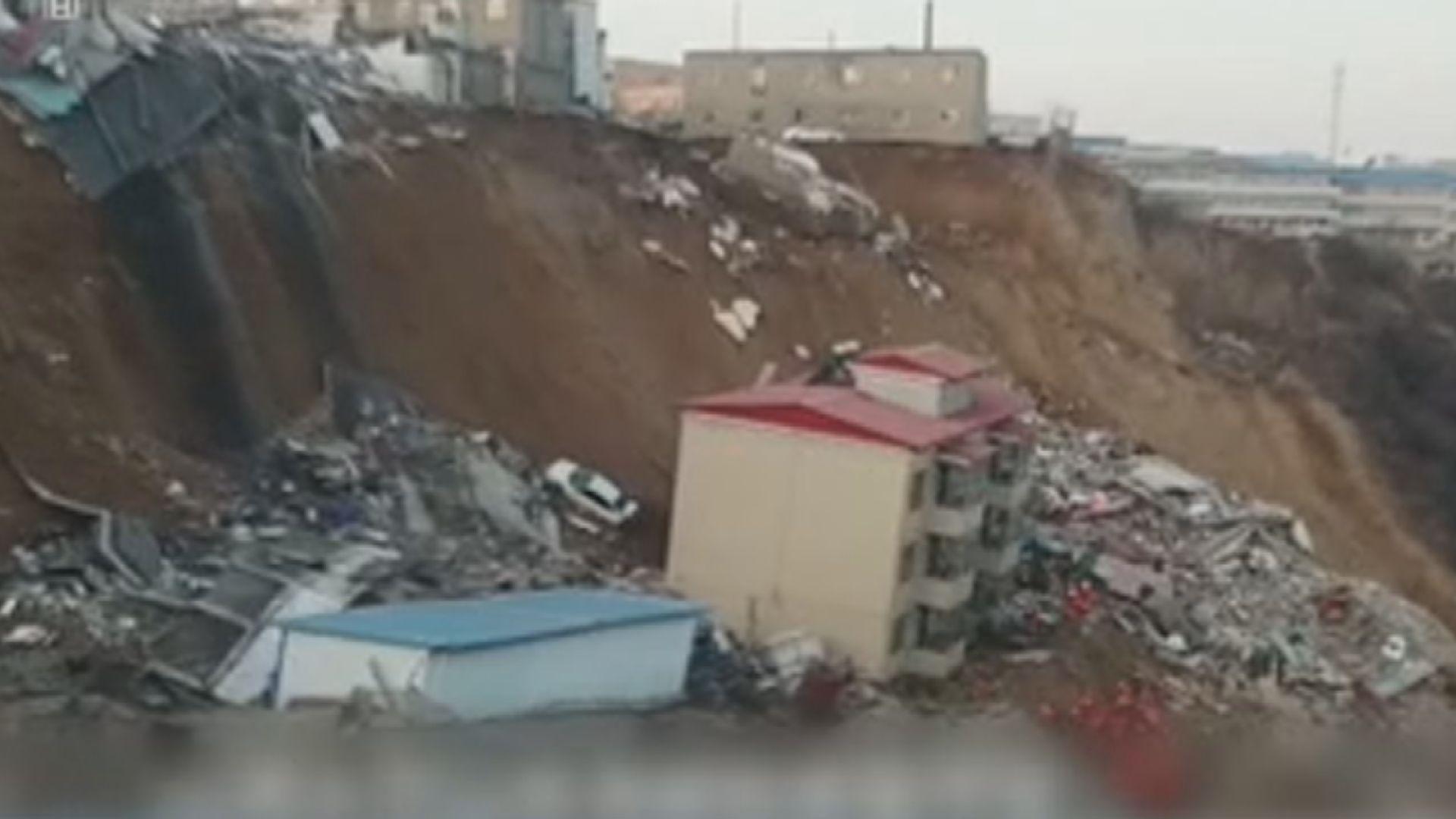 山西臨汾山泥傾瀉建築物倒塌多人死