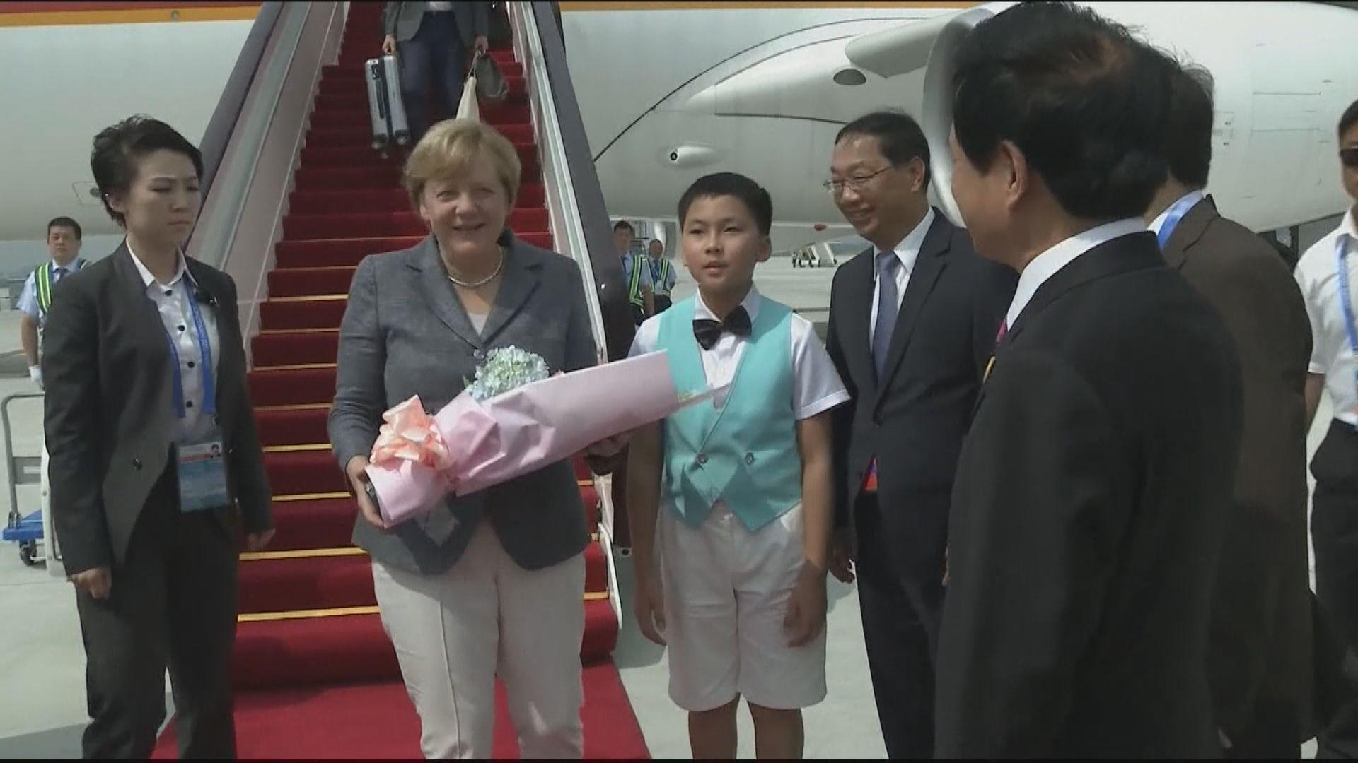 默克爾率領商業代表團訪華 據報將表達關注香港問題