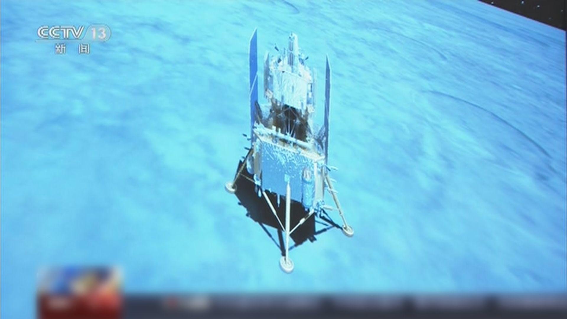 嫦娥五號成功著陸月球將進行採樣工作