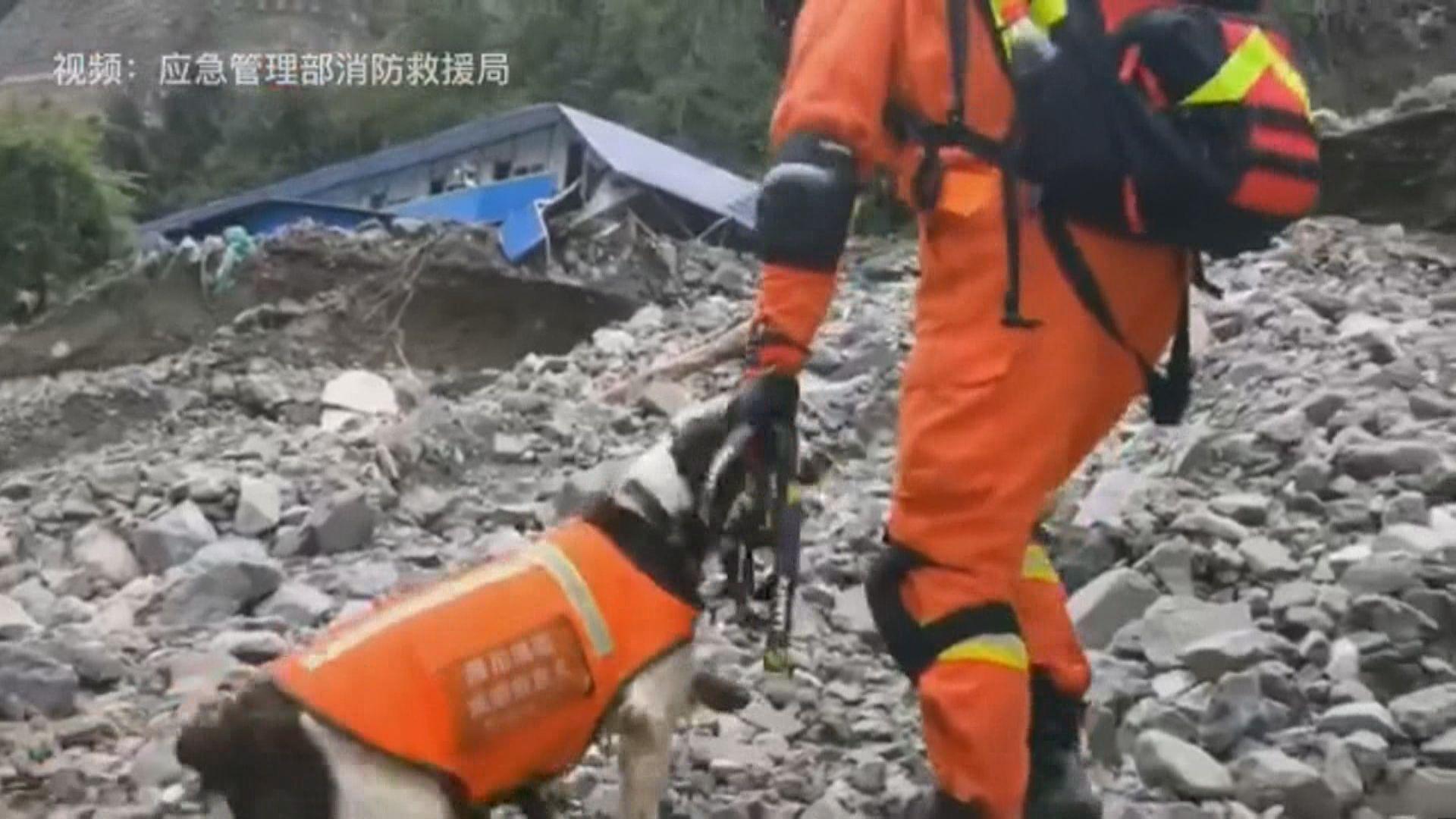 四川天全縣暴雨引發泥石流 多人失蹤