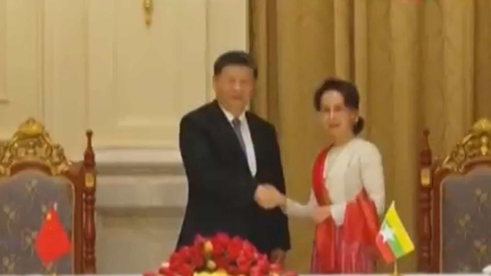 中緬簽署逾三十項合作協議
