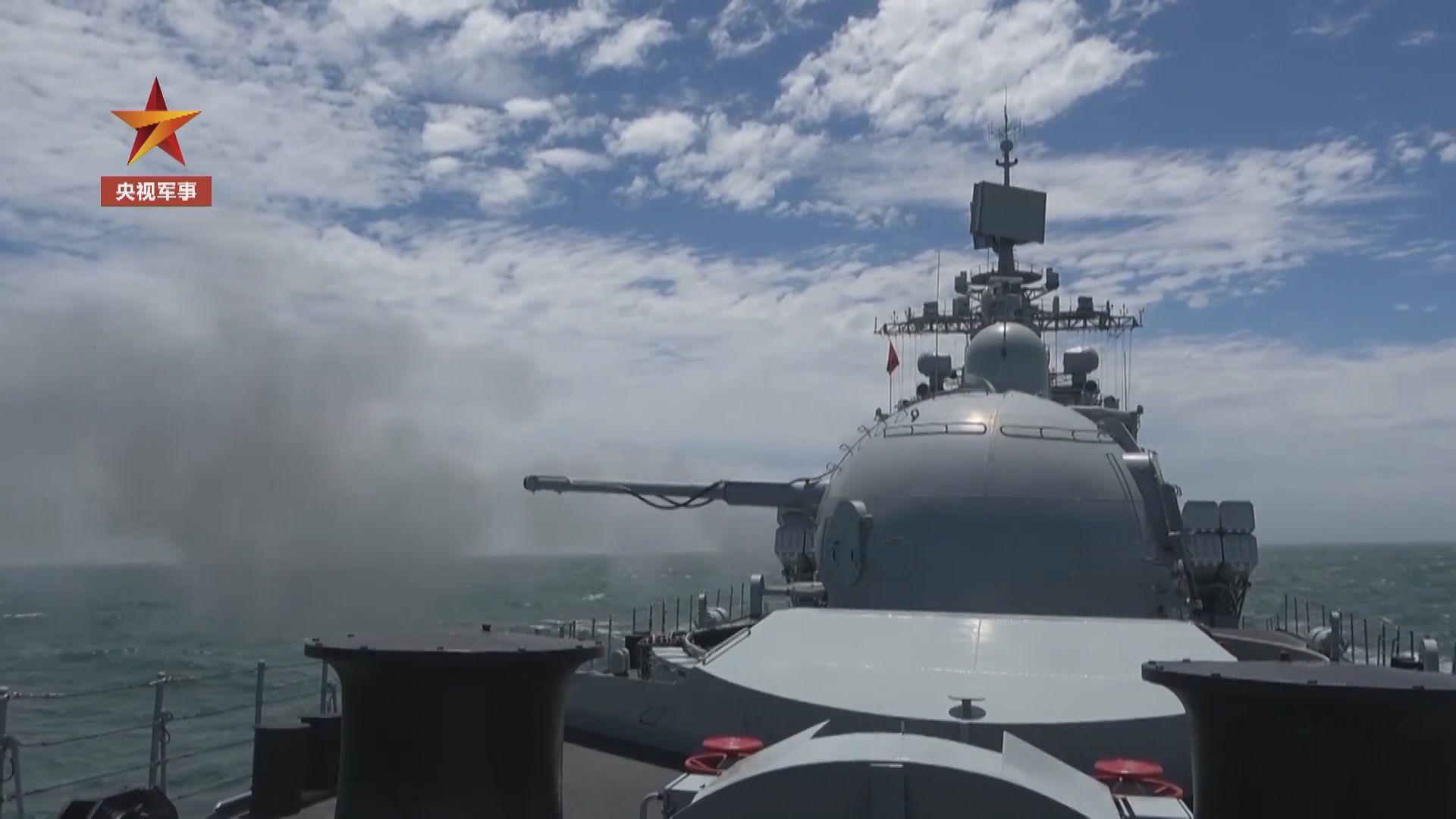 解放軍一連五日黃海實彈射擊演習