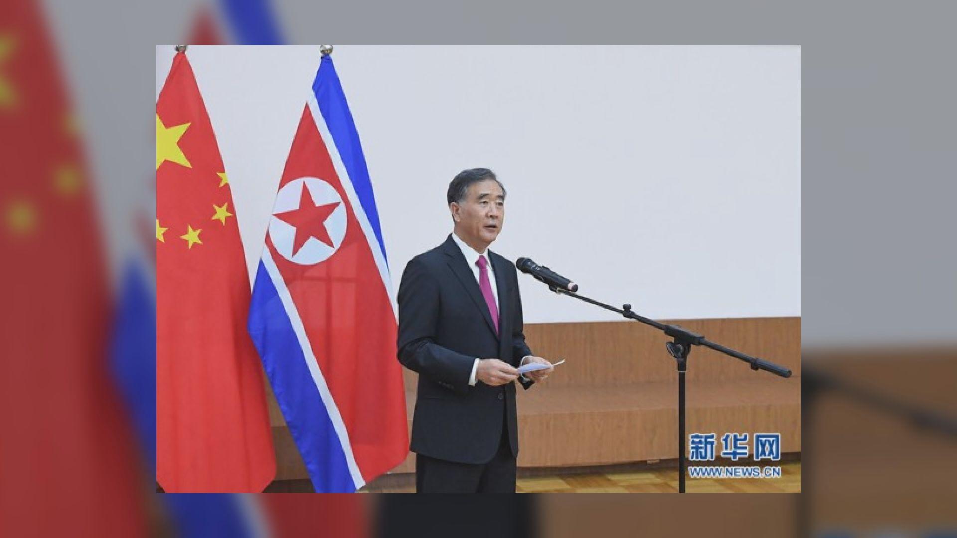 汪洋出席北韓建國70周年活動