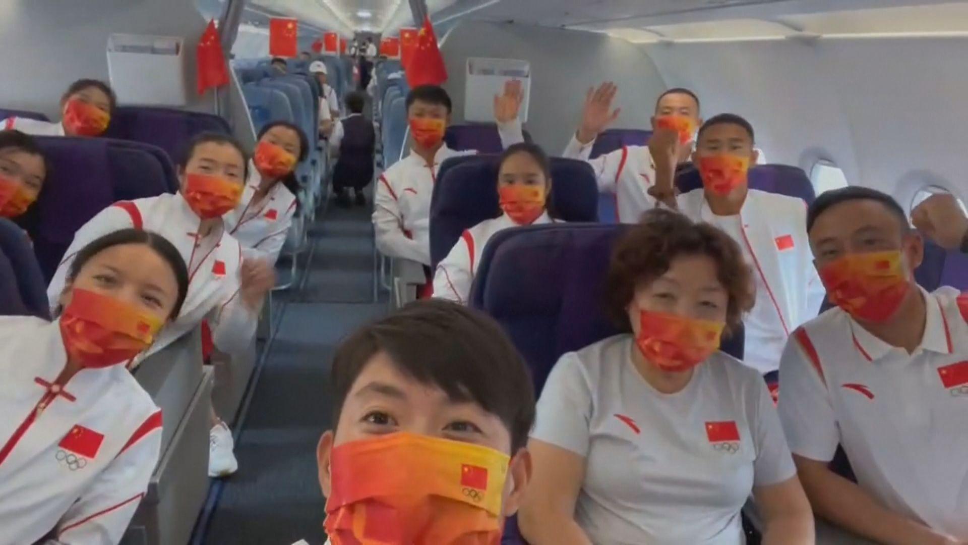 中國首支奧運代表隊抵達日本備戰東京奧運
