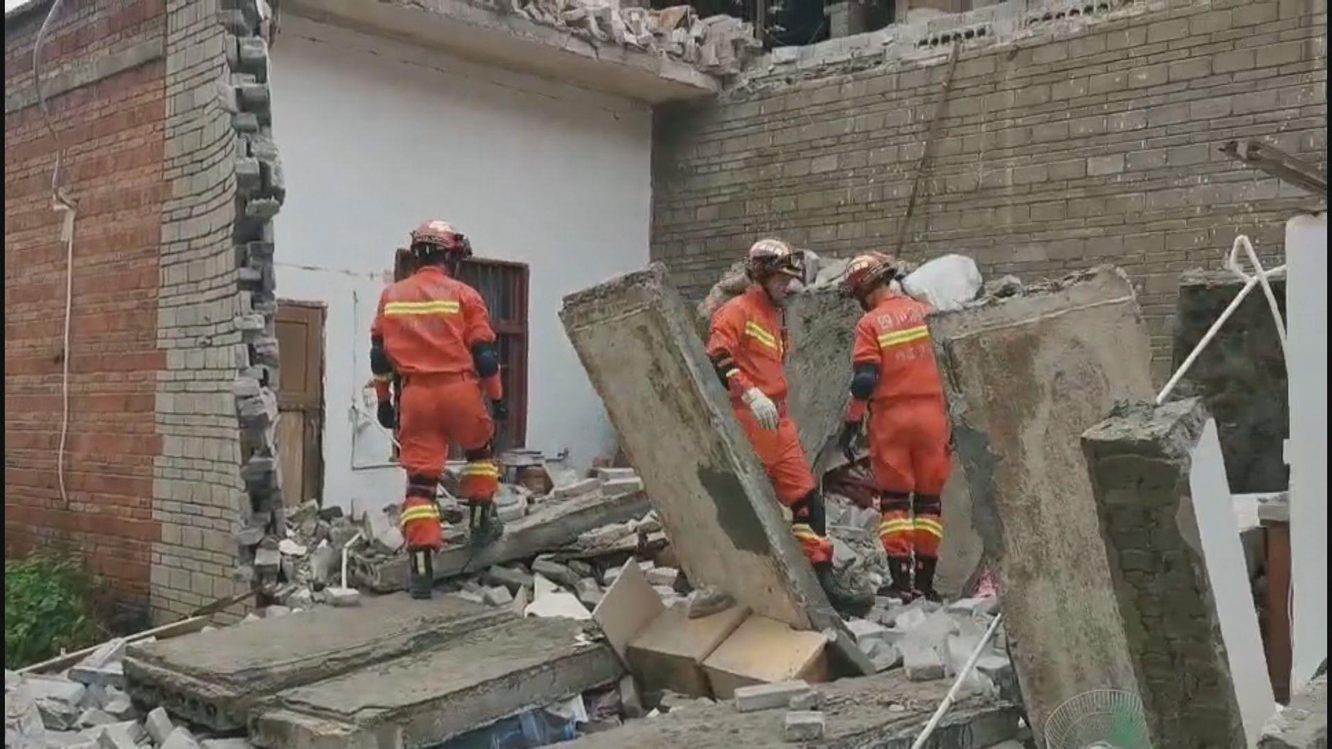 四川內江一日內三次地震 一死63傷