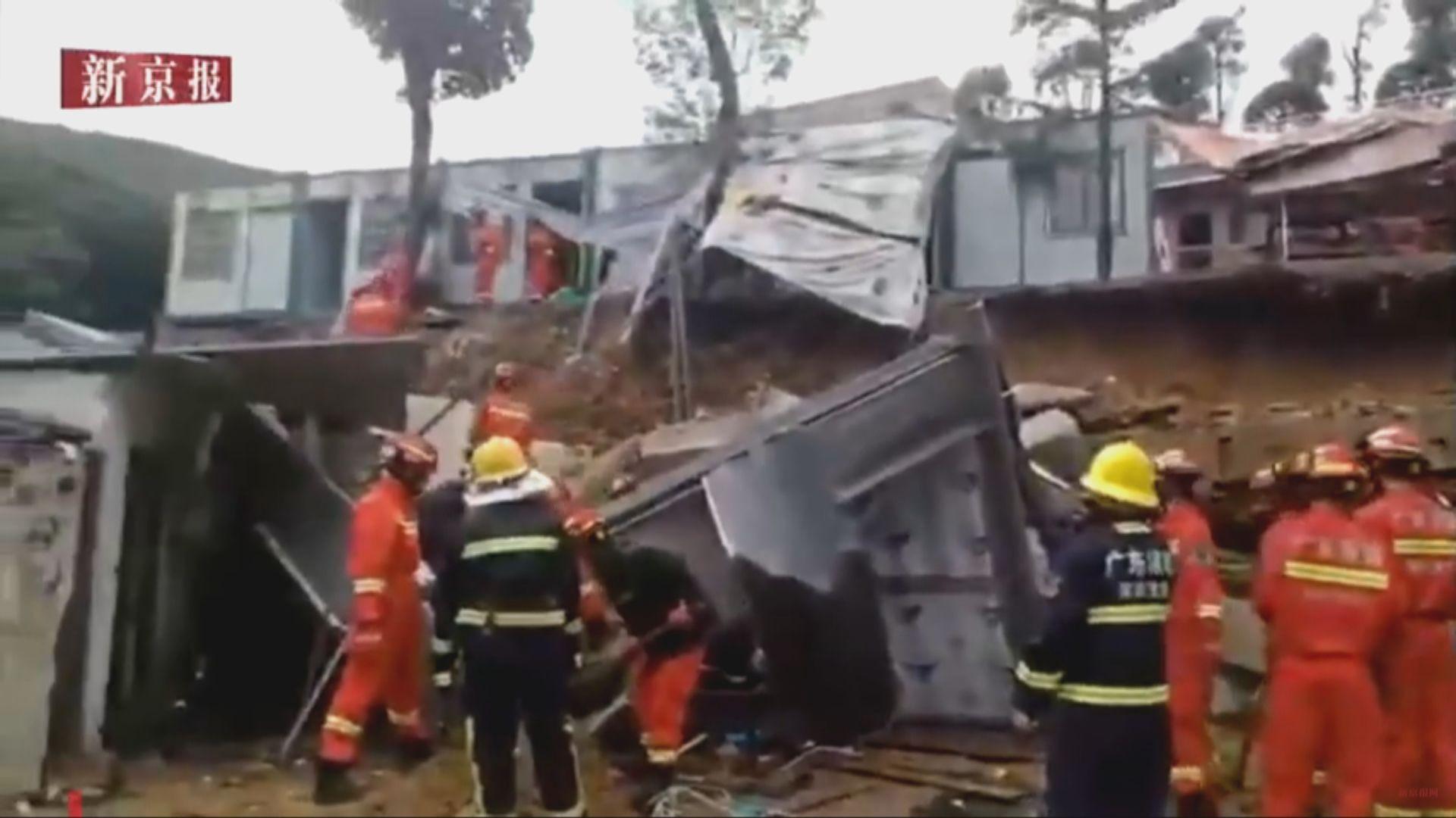 深圳有擋土牆坍塌 兩人死亡