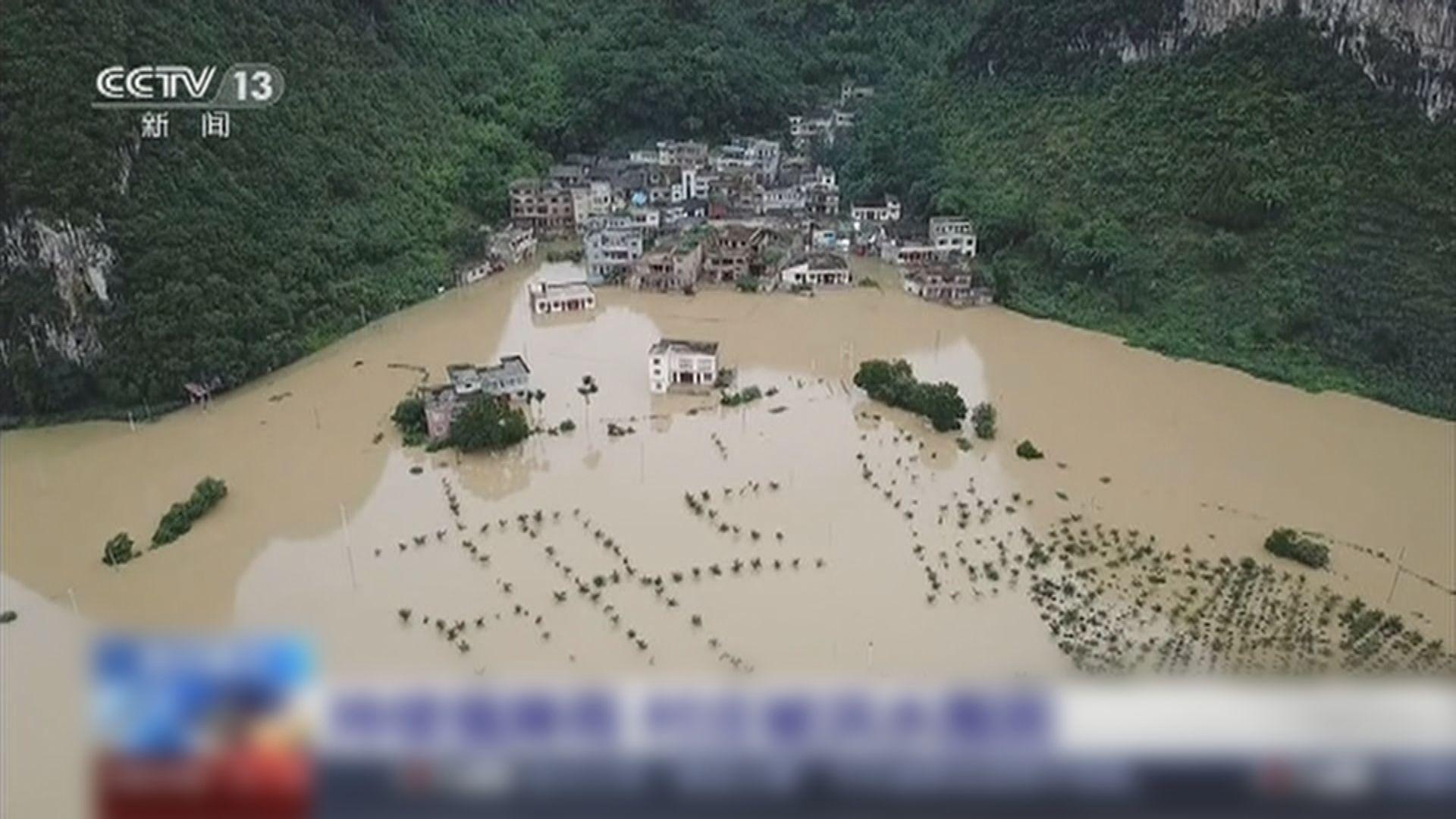 內地南方水災險情擴大逾千萬人受災 料雨區會繼續南下