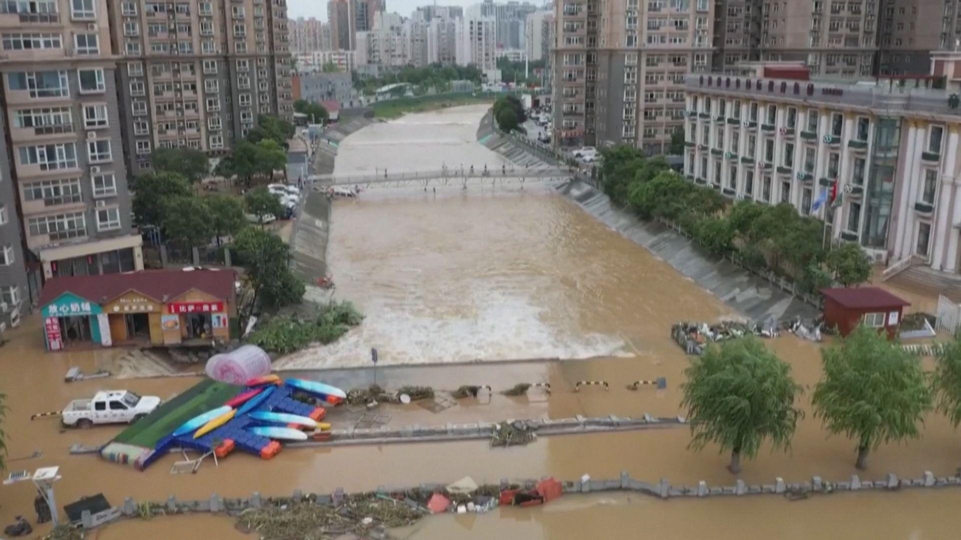 河南暴雨逾124萬人受災 損失近5千5百萬元人民幣