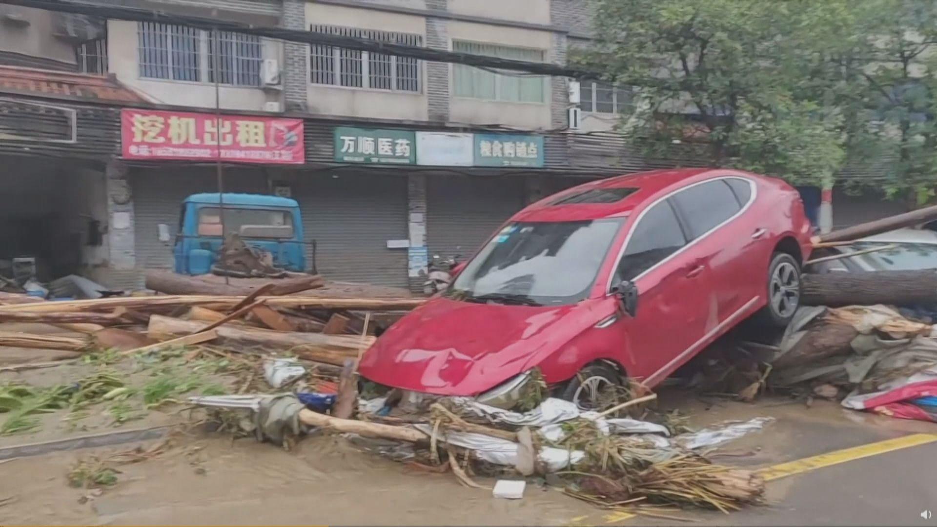 四川暴雨成災 最少8萬人緊急撤離