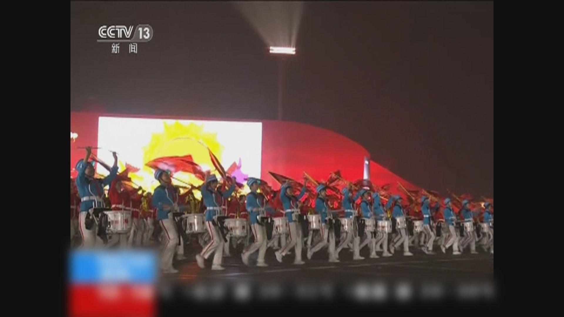 國慶70周年慶祝活動最後演習於北京結束