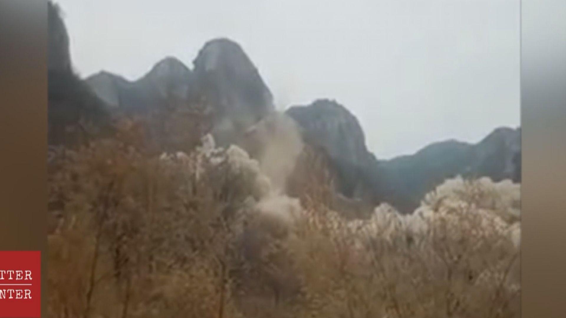 河北石家莊爆破拆毀巨型觀音像