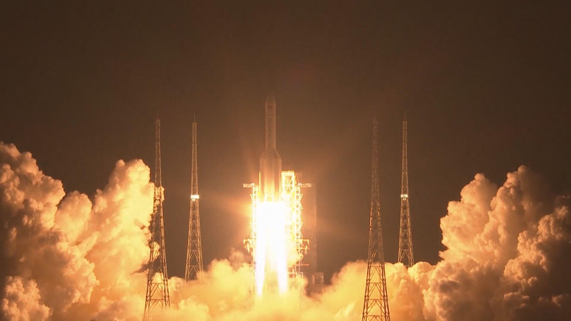 中國成功發射「長征五號」遙三運載火箭