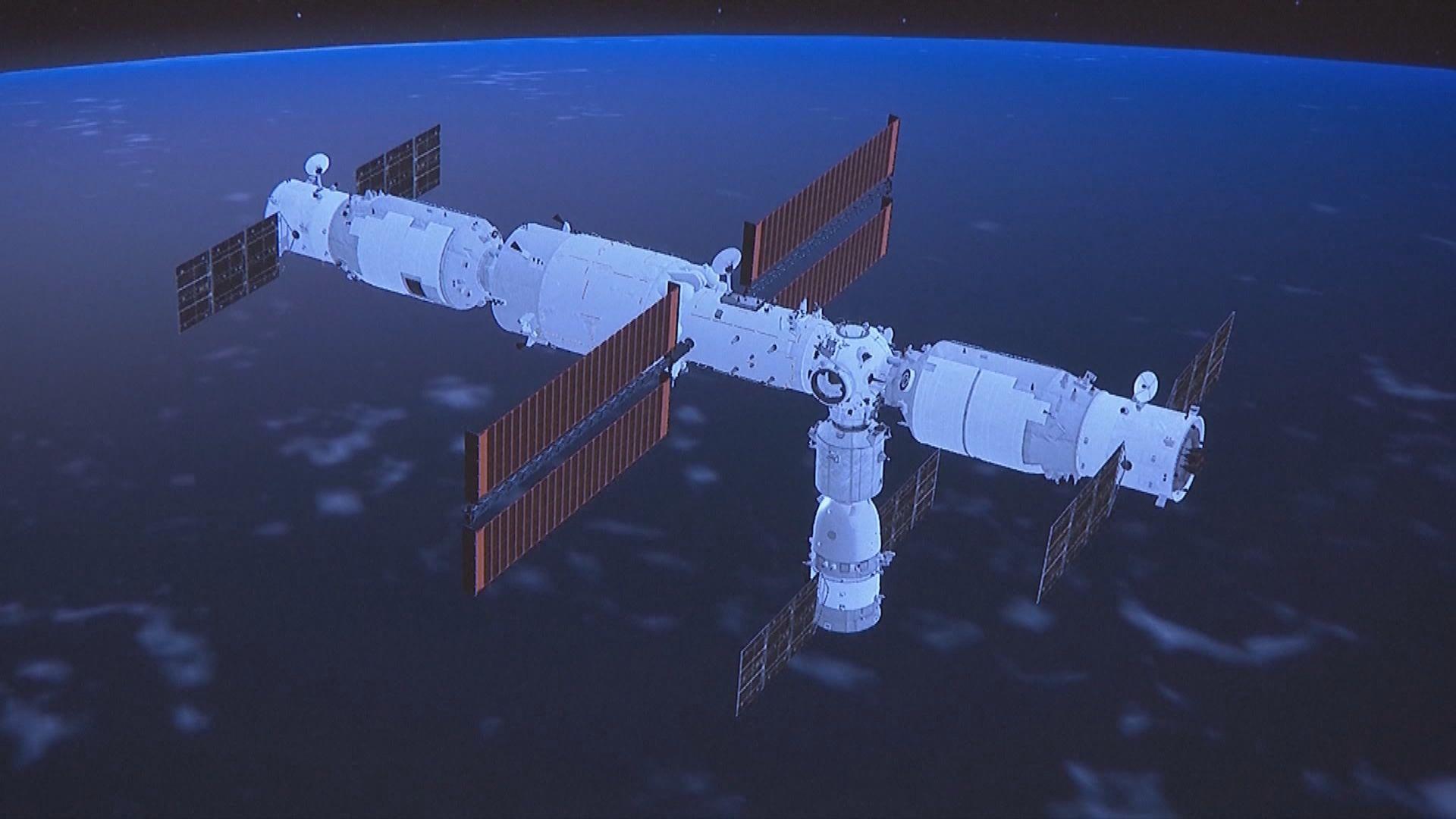 神舟十三號太空人順利進入天舟三號貨運飛船